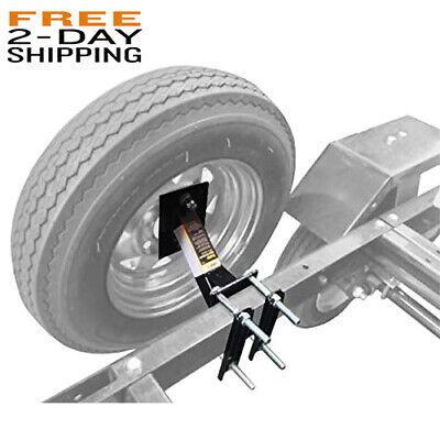 Professional Spare Tire Mount Utility Trailer Boat Wheel Holder Rail Frame Side