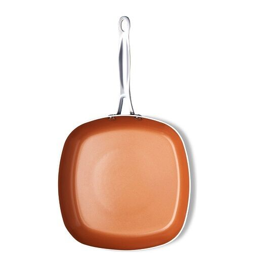 Gotham Steel 1736 Copper Square Shallow Pan with Super Nonst