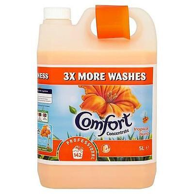 Comfort Concentrated Tropical Burst Fabric Softener - 5L 142 Washes M090890