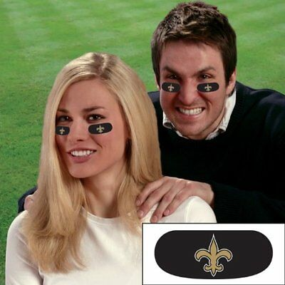New Orleans Saints Football NFL 6 Pack Eye Black Strips Tailgate Face Stickers - Football Face Stickers