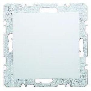 blank plate berker 6710091909 model s1 polar white matt. Black Bedroom Furniture Sets. Home Design Ideas