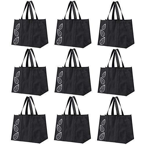 Bekith 9 Pack Reusable Grocery Bags, Large Heavy Duty Collapsible Shopping Bags,