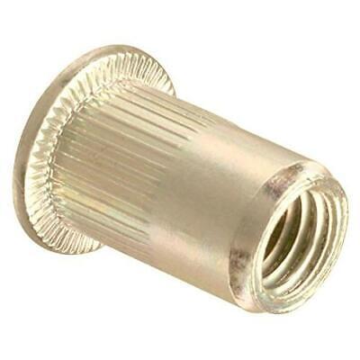 100 Pcs Nut Rivet Threaded Insert Tool Kit Hand Riveting 10-24 Unc Zinc Plated