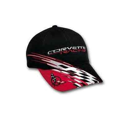 Chevrolet C5 Corvette Racing Checkered Bill Black Red Hat Baseball Cap