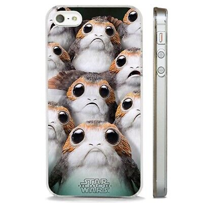 Star Wars Porg Last Jedi CLEAR PHONE CASE COVER fits iPHONE 5 6 7 8 X