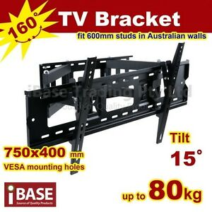 LCD-LED-PLASMA-FLAT-TV-WALL-MOUNT-SWIVEL-BRACKET-37-42-46-50-52-60-62-65-70-75
