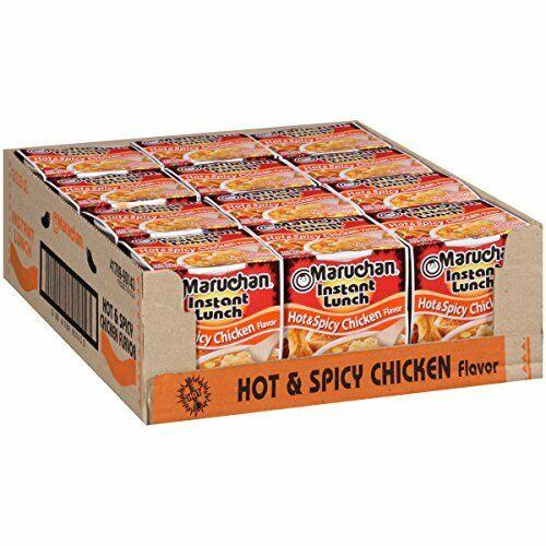 Maruchan Instant Lunch Hot & Spicy Chicken Flavor, 2.25 Oz, Pack of 12
