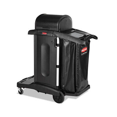 Rubbermaid Executive High Security Janitorial Cleaning Cart Black Rcp1861427