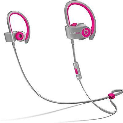 Beats by Dr. Dre Powerbeats2 Wireless Ear-Hook Wireless Headphones in Pink/Grey