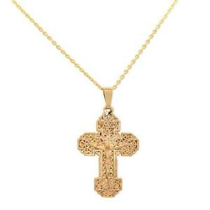 Gold cross pendant ebay antique gold cross pendant mozeypictures Gallery