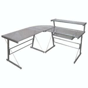 Broderick Glass-Top Corner Desk- NEW in box