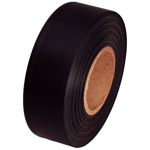 """Black Flagging Tape 1 3/16"""" x 300 ft Roll Non-Adhesive"""