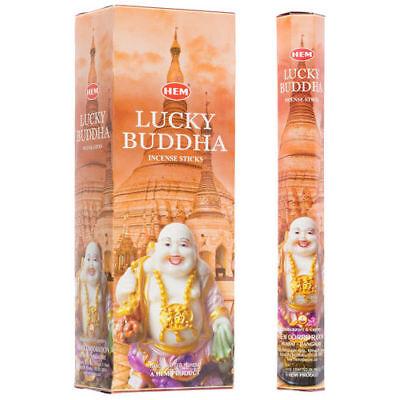 Hem Incense Lucky Buddha Box of Six Tubes, 120 Sticks Total -Free Shipping ()