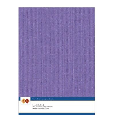 (EUR 4,81/m²) Leinenkarton 10xA4-Bogen violett 18