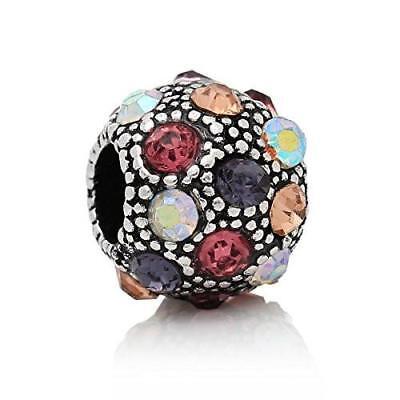 AB  Crystal Bead Charm Bead Charms & Charm Bracelets