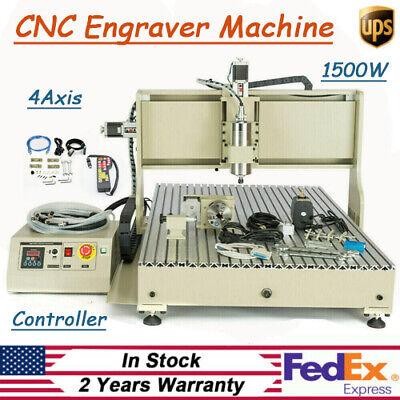 1.5kw Usb 4 Axis 6090 Router Engraver Engraving Milling Machine Handwheel Kit