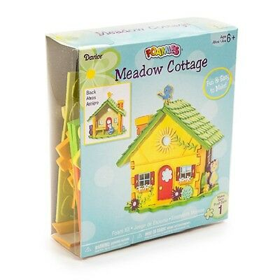 Foamies 3-D Meadow Cottage Foam Craft Kit Spring House