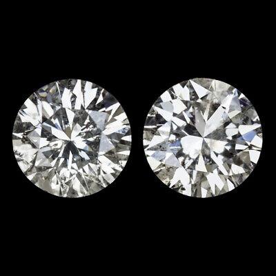 2 CARAT NATURAL VERY GOOD CUT DIAMOND STUD EARRINGS ROUND BRILLIANT 2ct PAIR RBC