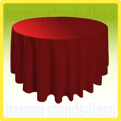 """120"""" Inch Round Table Cover Tablecloth Wedding Banquet Event - RED"""