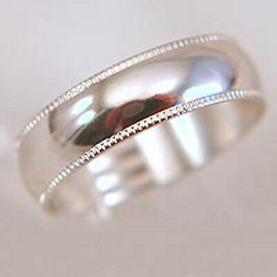 18K White Gold Plated Mens Wedding Band 7mm Ribbed Ring Size 9 10 11 12 13 - 18k Gold Mens Wedding Band 7mm