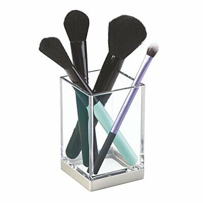 iDesign Toothbrush Holder, Small Plastic Bathroom Caddy with Modern Design,