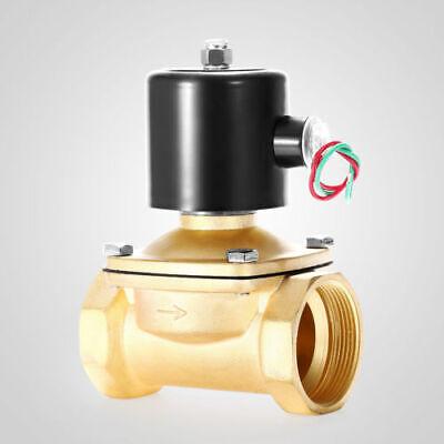 Brass Electric Solenoid Valve 2 Npt 110-volt Ac 110vac Water Air Gas 2 Inch