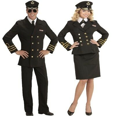 NAVY KAPITÄN Captain Marine Offizier Damen und Herren Kostüm - Karneval - Marine Kapitän Kostüm