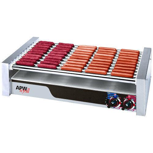 """Apw Wyott Hr-50 Hot Dog Roller Grill 30 1/2""""- Flat Top 120v"""