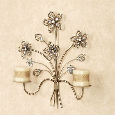 Wall Sconce Candle Holders Metal Flower Candle Sconces Wall