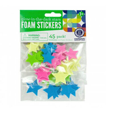 Glow in The Dark Foam Stars Stickers 45 Pieces Decals Wall Decor FAST USA SHIP