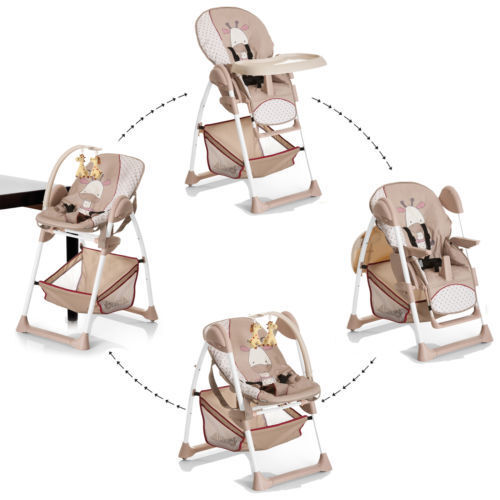 NEW Hauck Sit'n relax 2in1 zoomy baby highchair+bungee in giraffe brown