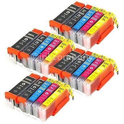 20x DRUCKER PATRONE mit CHIP für CANON PIXMA IP7250 MG5450 MG5550 MX725 MX925