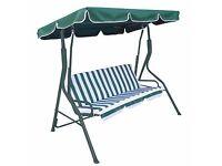Patio Swing Seat Chair Outdoor Garden Porch Hammock 3 Seater Deluxe Swing Bench