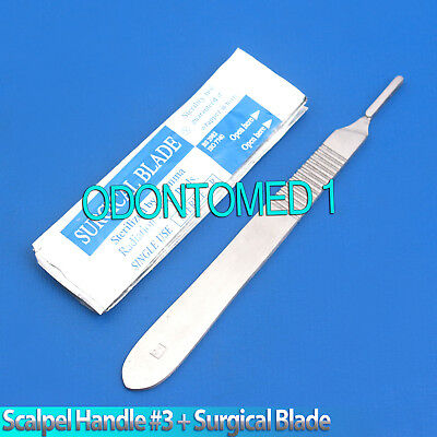 Scalpel Handle 3 10 Sterile Surgical Blade 10 Surgical Dental Instruments