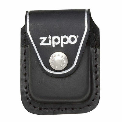 Zippo Leather Pouch - Zippo lpcbk black leather lighter pouch clip, New in Box