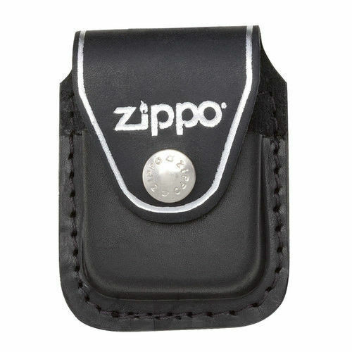 Zippo lpcbk black leather lighter pouch clip, New in Box