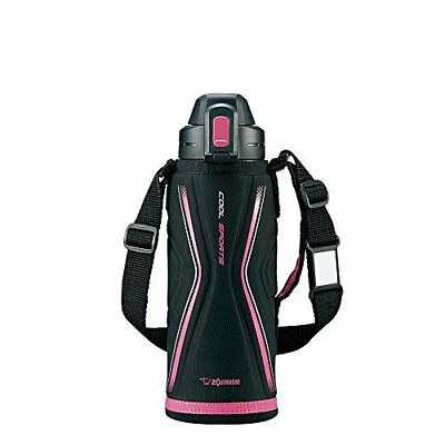 Zojirushi SD-EB08-BP Thermal Stainless Cool Thermos Bottle 0.82L Pink Black.