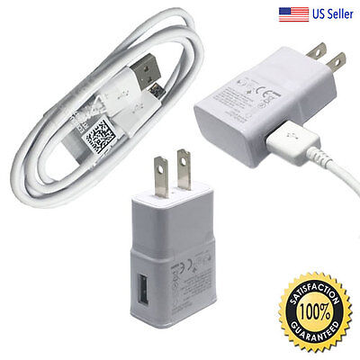 for Samsung Galaxy S7 Edge S6 Note 5 Fast Rapid Wall Charger USB Charging Cable