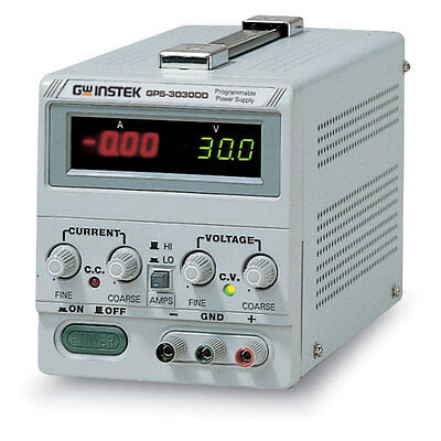 Instek Gps-3030dd Linear Dc Power Supply 30v3a Dual Led Display