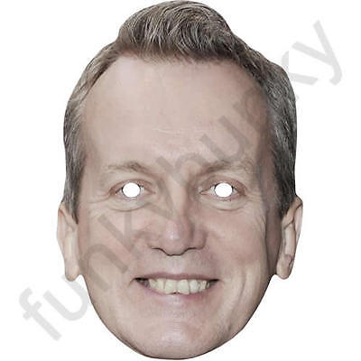 Frank Skinner Celebrity Comedian, Writer Card Mask All Our Masks Are Pre-Cut