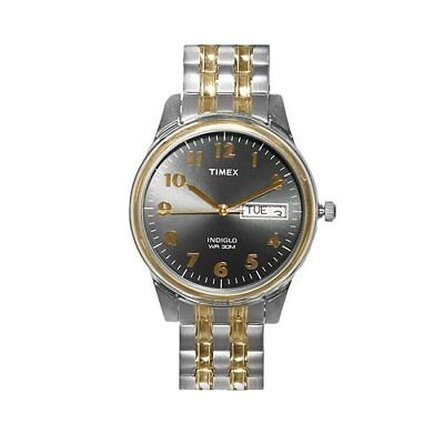 New Timex Men's Grey Dial Two Tone Expansion Watch T26481