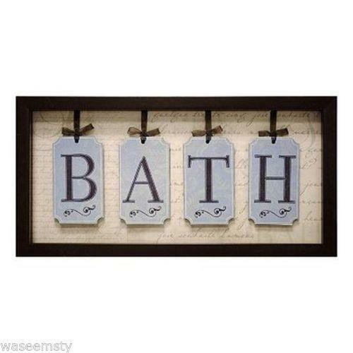 Bathroom framed wall art ebay for Spa bathroom wall decor