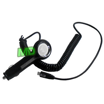 NEW Authentic Motorola Vehicle DC POWER Car Charger CHARM MB502 w/ MOTOBLUR Motorola Vehicle Power Charger