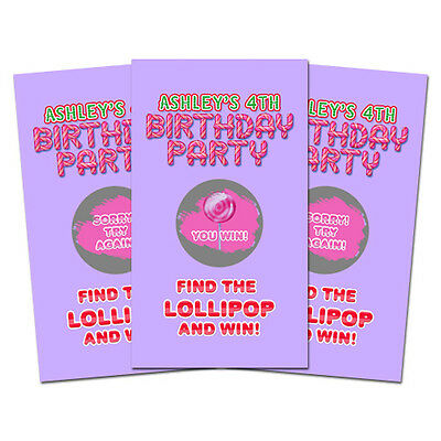 ay Party Favor Personalized Scratch Off Games (Candyland Party-spiele)