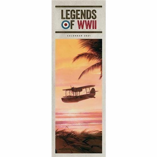 Legends+of+WWII+2021+Calendar+Official+Slim+Wall+Calendar