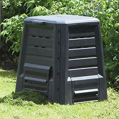 KHW 34029 Garden Composter with Hinged Lid Finished in Anthracite 340 Litre