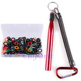 "160x Wacky O-Rings Rig Worm Fishing Tool Stick Baits 3'' 4'' 5 & 6"" Senkos Kit"