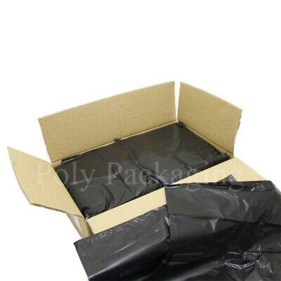 50 x BLACK BIN BAGS(18x29x39