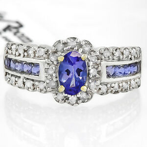 Ladies Diamond & Tanzanite Ring