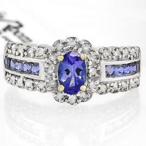 Ladies Diamond & Tranzanite Ring